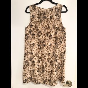 Broadway and Broome Sepia Silk Floral Shift Dress